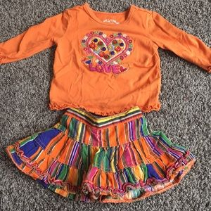 Baby girls unique skirt and top